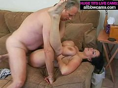 Sexually charged brunette MILF with juicy jugs is bouncing her goodies while riding hard stick on top. After cowgirl position fuck slutty mom gets fucked missionary style. At the happy ending she gets fat tit cumshot.