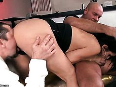 Brunette chicana Samia Duarte knows no limits when it comes to bum hole fucking