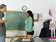 This gorgeous teacher is the full package. She has a lovely pair of small perky tits and a hairy pussy that's just begging to get fucked in every possible position. Check out this hot sex video now and I am kinda sure you will enjoy watching it.
