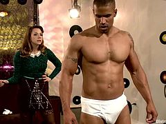 Booty and sexy Chanel Preston is riding her bondaged slave