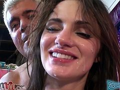 Sexy cunt Lily Carter with hot ass and small tits getting licked in puss and fucked missionary and doggystyle by very horny man.