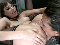 The more experienced slut Dana asks her girl to put her hand in the mouth and then fists her ass hole. She spreads her ass after putting her girdles on the sluts head and gets fingered and then fisted. Dana wants it deeper and the younger bitch is scared of how her hand is almost stuck in that hot ass.