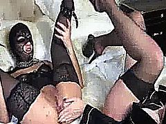 Extreme amateur babe is double fisted and punch fucked in her asshole till it prolapses