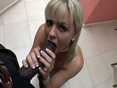 Bree Olsen starts and finishes the hardcore action with Lex in the kitchen. She serves his massive black cock with her mouth and pink hole until he cums on her pretty face.