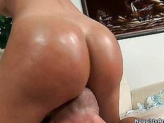 Latina Franceska Jaimes with massive breasts lets Jordan Ash shove his worm in her back swing