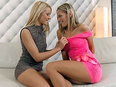 Charry and Vanda L are having some good time together. They pet and kiss each other and then please each other with passionate fingering.