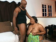 Have you ever seen BBW whore horny like this one? See her sucking fat black meat and gets her enormous sex eager satisfied with it deep in her wet pussy.