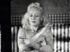 Needy ladies in sexy lingerie feel horny in this retro porn session