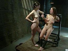 It's a wicked lesbian BDSM session where one submissive chick gets tied, tortured and strapon fucked by a dominant slut.