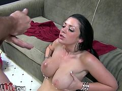 He eats her pussy so good and then Melina Mason gives him a hot blowjob! Meanwhile, you are enjoying the action from the backstage.