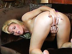 Niki Young finds herself horny as hell and takes dildo in her pussy with wild desire
