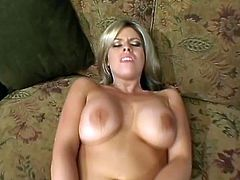 Busty blonde mom Daphne Rosen admires some dude with a hot blowjob. Then she takes his wang into her butt and gets it pounded in the reverse cowgirl and other positions.