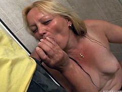 Vanessa E is a horny mature lady, who has a way stronger and fresher lover. She kind of pays him money to fuck her or something.