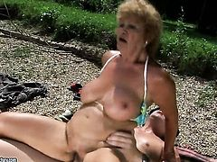 We didnt see our good old mature superslut Effie in a while on lustygrandmas.com. She was busy doing OldYoungLesbianLove.com but she got bored with all the tongues, fingers and artificial cocks. Now she craves for real meat and flesh of a man a