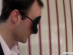 Hot sexploitress blows dick of her boss. She sends it deep in her throat and closes her charming eyes with pleasure. Watch hot backstage office sex videos for free.