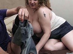Meet Bibi, a bbw whore, that just got picked up by this bald guy. He has a short chat with her and then, they go inside the house, where things get a bit more spicier. Bibi gets her nipples sucked and her pussy, played with. He fingers her snatch just enough, to make her horny and drooling for his penis.