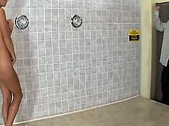 Lichelle gets fucked in the shower.