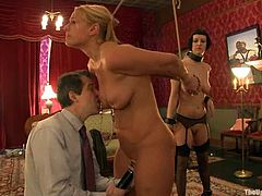 Two most beautiful sex slaves on our site Cherry Torn and Mellanie Monroe are enjoying their time in pain. Babes also pay attention on each other's twats time by time.