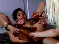 There's some crazy anal toying and fisting in store for Beretta James in this bondage femdom video with Lorelei Lee.