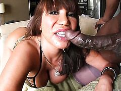 Exotic Ava Devine finds Prince Yahshua handsome and takes his hard pole in her mouth