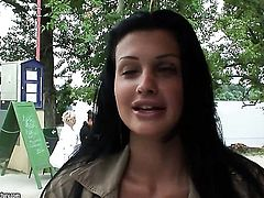 Aletta Ocean with huge boobs rubbing her wet hole