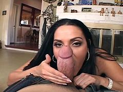 Gorgeous and amazing sex doll Veronica Rayne loves that huge cock deep in her mouth! Then she spreads her legs and you sweat on her!