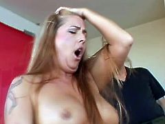 Get a load of this hardcore scene where this smoking hot blonde milf is fucked hard by a big black cock as her man hears her moan.