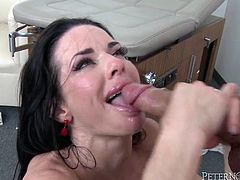 This hot MILF has really nice big fake tits and a nice tight body which she loves to show off. She is fucking and sucking like a world class whore.