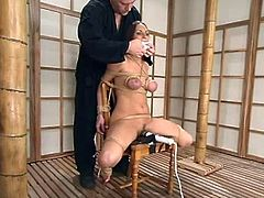 On the other hand, seems like Venus doesn't mind being bondaged or so! She enjoys it and her man is having so much fun, humiliating her!