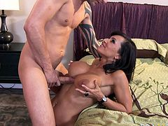 Beautiful red haired pornstar Lisa Ann gives her head. She is busty whore who gives best ever blowjob. Click here and enjoy watching her juicy cherry lips sliding meaty shaft.
