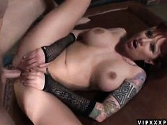 Brunette Monroe Valentino finds man hot and takes his hard fuck stick in her mouth