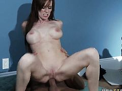 Brandi Edwards with juicy boobs and hot dude Keiran Lee enjoy anal sex too much to stop