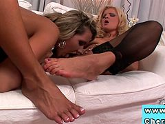 Cherry Jul and Anetta Keys are ready to get wild with Kassey Kristal. Watch the sexy blondes and the naughty brunette munching their pussies and licking their feet while assuming very hot poses.