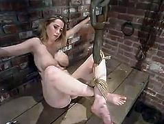 BDSM porn video with a new sex slave Maklaryn. She feels like she is going to make it, but the first time is always a hard one. Bravo, girl, you stand it right!