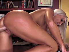 Diana Doll is a glamorously beautiful MILF with long blond hair. She shows off her lovely body as she gets her pink wet hole drilled by hard dicked guy. He loves banging this milf beauty.