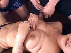 Naughty japanese maid is into some serious things along her horny master