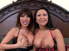 Threesome with two sexperienced milfs Kitty Langdon and Ava Devine! These two are so fucking horny and damn hungry about this dude.