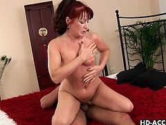 Hardcore fucking is like a dream come true for that horny and wild mature slut, she likes hard cock deep in her slimy and wet vagina.
