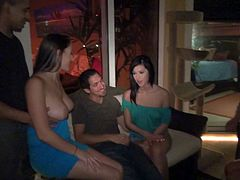 This crazy sex party with a whole group of hot chicks getting drunk goes nasty as soon as one of the girls stars sucking a dick. Soon others join and this turns into a huge sex orgy.