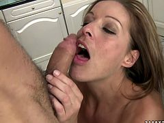 Mature hoochie demonstrates her deepthroat talent and perfect sucking skills. She blows long shlong like nobody else before. Enjoy steamy blowjob sex video for free.