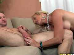 Boobalicious blonde whore rides dick like a true cowgirl