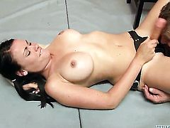 Ashli Ames takes ram rod up her twat