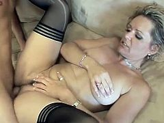 Gorgeous and sizzling blond milf Kelly Leigh gets naked and enjoys the size of that thick cock! Oh, man she is so fucking sizzling and angelic!