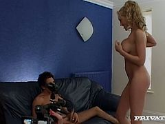 Watch this threesome with a muscular guy with his large cock and sexy Natalie Raper with her sexy girl friend in Private sex clips.