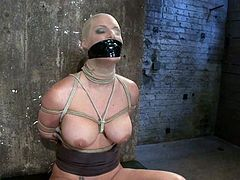 Some wild BDSM porn video with a sexy blond babe Phoenix Marie. She gets blindfolded and her man bondages her, so that her pussy is accessible!