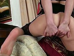 Amazing lingerie model Miah Croft explores her own limits when she discards her bra and panties to masturbate her tight shaved pussy on video for the very first time.