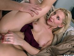 Experienced blonde slut Ashley Fires is drilled deep from behiind