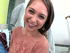 Riley Reid is a girl of great charm and beauty! This gorgeous whore knows how to appreciate a good, stiff cock! She takes her lover's meat stick in her mouth and sucks it with great enthusiasm like a dirty whore.