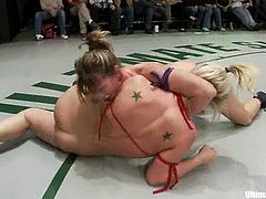 This girls have really good wrestling skills and they show it in Ultimate Surrender battle. These chicks are in bikini, so you will see their hot asses.
