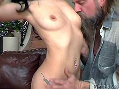 This girl next door is a total slut! She is tired of her neighbor's excuses and wants him to eat her delicious snatch. This time she isn't taking no for an answer.